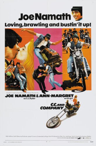C.C and Company 1970 Ann Margret Cult Bikers movie poster print