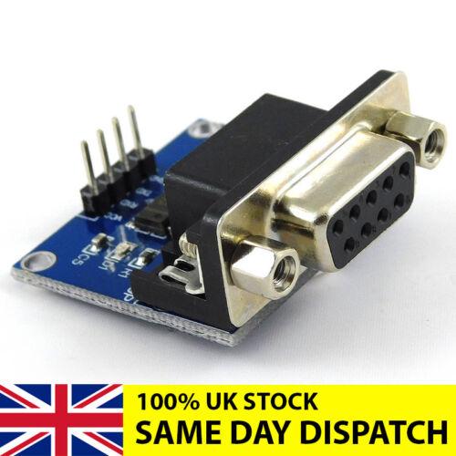 MAX3232 RS232 Módulo Convertidor de puerto serie TTL a conector DB9