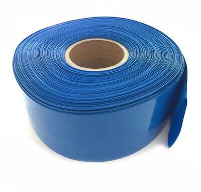 Blue Φ170mm Battery Sleeve Wrap PVC Heat Shrink Tubing Flat Width 268mm x 1M