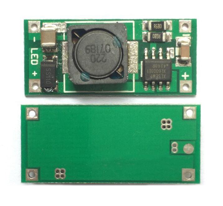 3.6V to 36V Li-ion 18650 Battery Boost Constant Current LED Driver Board