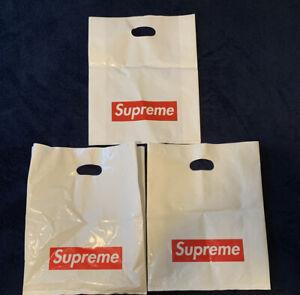Supreme LARGE White Shopping Bag Red Box Logo Retail Store Bags