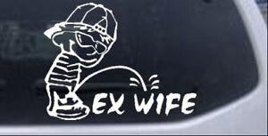Pee on x wife window sticker