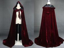 2017 Cloak Hooded Velvet & Satin Cape Renaissance Clothing Medieval Costume