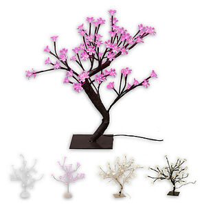 LED-Baum-Lichtbaum-48-LEDs-45-cm-Stamm-schwarz-perlmutt-silber-Blueten-pink-weiss