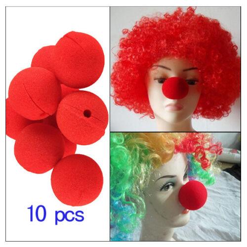 10 Pcs Clownnasen Rote Clownsnase für Karneval Halloween Weihnachten Party