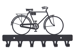New Metal Wall Mount Bicycle Hook Rack Hat//Key Ring Bike Hooks Rustic Home Decor