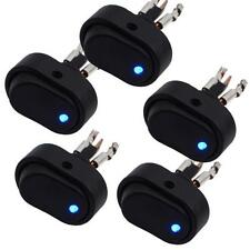 5 pièces Bleu lumière LED 12V 30Amp 30A Voiture Bateau Auto Bascule SPST