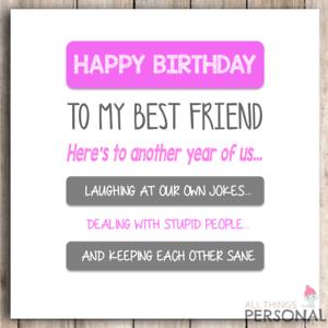 Image Is Loading Funny Best Friends Bestie Joke Friend Birthday