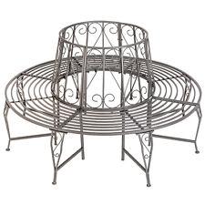 Panchina circolare per di albero metallo giardino panca esterno ferro antracite