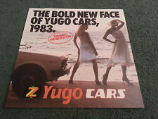 1983 YUGO Zastava UK - 311 311 GL 511 513 513 GL 45 - COLOUR FOLDER BROCHURE