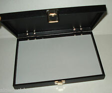 BLACK WOOD CRAFT/CIGAR/PEN/JEWELRY/RING/WATCH DISPLAY STORAGE CASE BOX 11x7.5