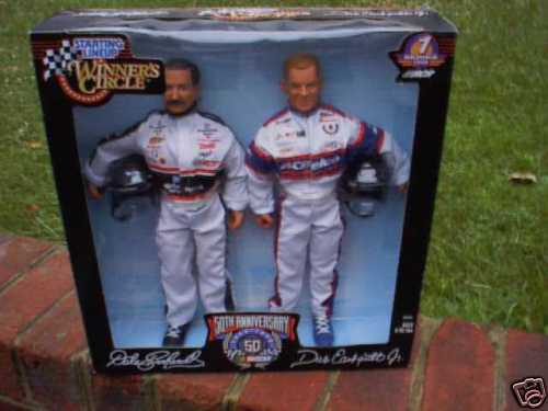Dale Earnhardt & Dale Earnhardt Jr 12  Figure Set  MINT