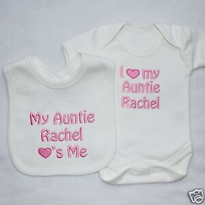 Personalised-Baby-Clothes-Vest-and-Bib-Set-I-my-ADD-ANY-NAME-New-Gift