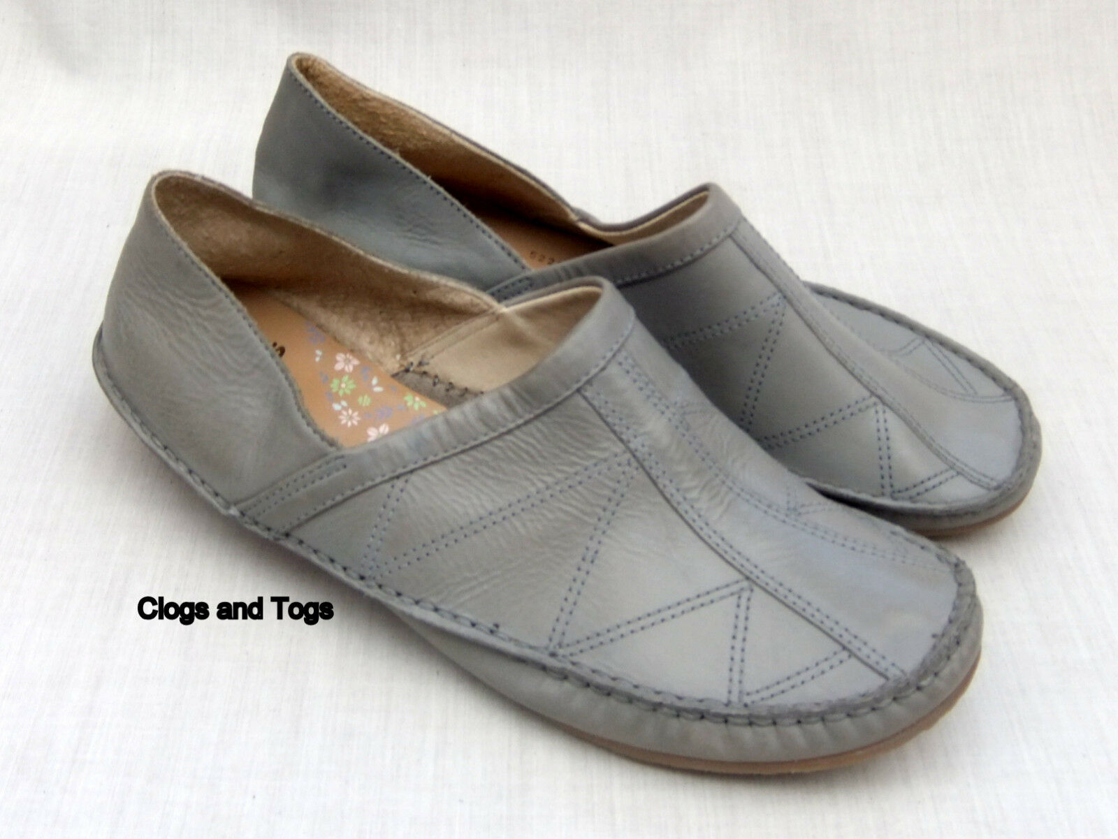 NEW CLARKS GUADALOUPE femmes gris LEATHER chaussures Taille 5   38