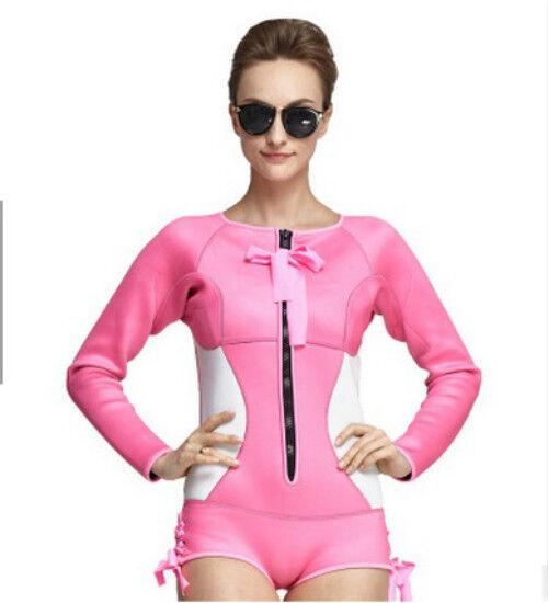 Women Diving Suit SBART Neoprene Scuba Wetsuit 2MM Swimsuit Rashguard Swimwear
