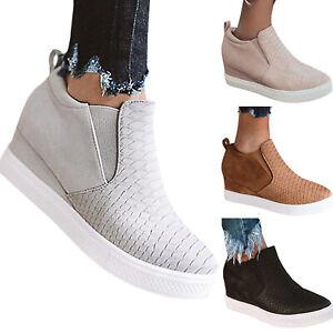 factory price 4be15 86514 Details zu Damen Keilabsatz Sneaker Halbschuhe Loafer Freizeitschuhe  Knöchelschuhe Schuhe