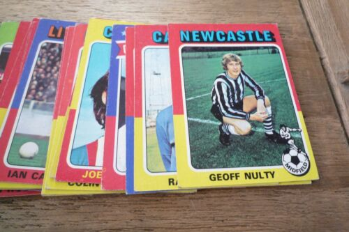Pick /& Choose The Cards You Need! VGC! Topps Red Back Football Cards 1975