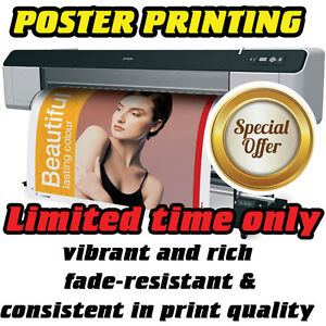 Details about Full Colour Poster Photo Printing / print - 200gsm Gloss,matt  or Satin Paper