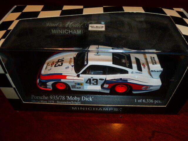 Die cast 1 43 Minichamps  -porsche 935 78 moby dick limited edition