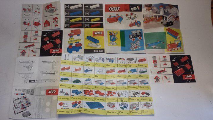 LEGO vintage env. 50er 60er années vieux originaux prospectus et bauideen