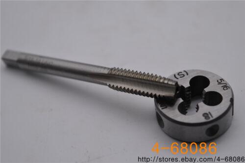 1pcs 5//16-18 die  UNC British US made right hand taper 1pcs 5//16-18 tap