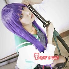 HighSchool of the Dead Busujima Saeko cosplay costume wig