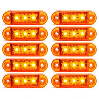 24V SMD 3 LED Feux De Gabarit Camion Caravane Chassis Remorques Blanc 10x 12V