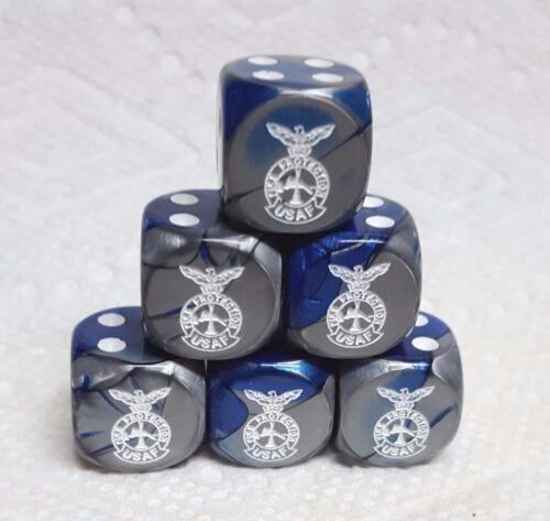 *6* CHX CUSTOM USAF FIRE PROTECTION 16mm GEMINI BLUE//STEEL w//WHITE/>/>SALE!