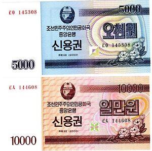 Lot Set Serie 2 Billets Korea Coree 5000 & 10000 Won 2003 Bond Unc Neuf 0qqel2uk-07223127-974315546