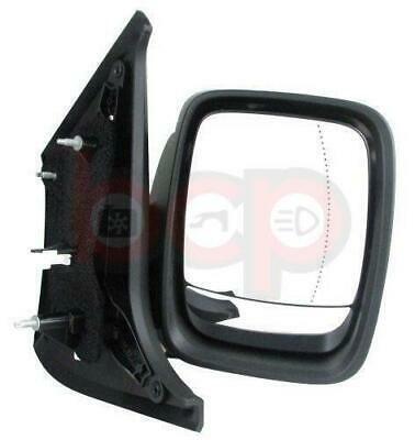 RENAULT TRAFFIC 2014 ON DOOR WING MIRROR DRIVER SIDE RH ELECTRIC BLACK COVER NEW