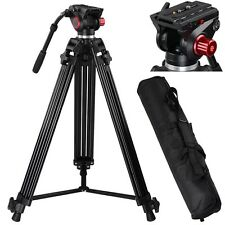 "Professional Heavy Duty 72"" DV Video Camera Tripod Stand w/Fluid Pan Head Kit"
