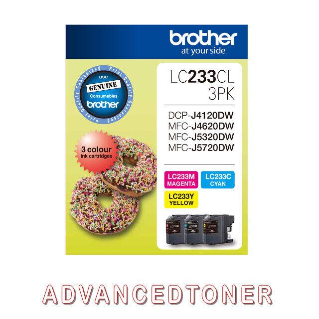 Genuine Brother LC233CL Colour ink Cartridges - J4120DW J4620DW J5320DW J5720DW