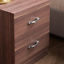 thumbnail 5 - Riano Bedside Cabinet Walnut 2 Drawer Metal Handles Runners Bedroom Furniture