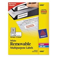 Avery Removable Id Labels - 6460