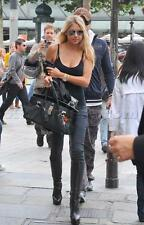 Gucci Black Leather Knee High Platform Boots 39