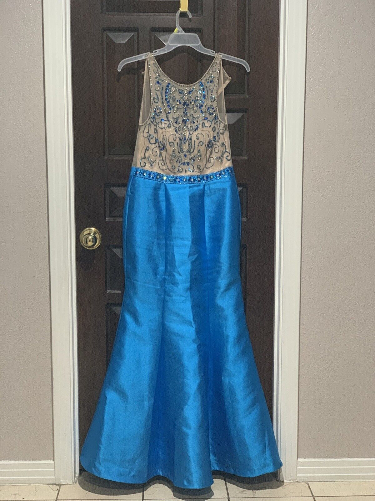 """TLC """"Say Yes To The Prom Dress"""" Teal Blue Long Gorgeous Mermaid Prom Dress 9/10"""