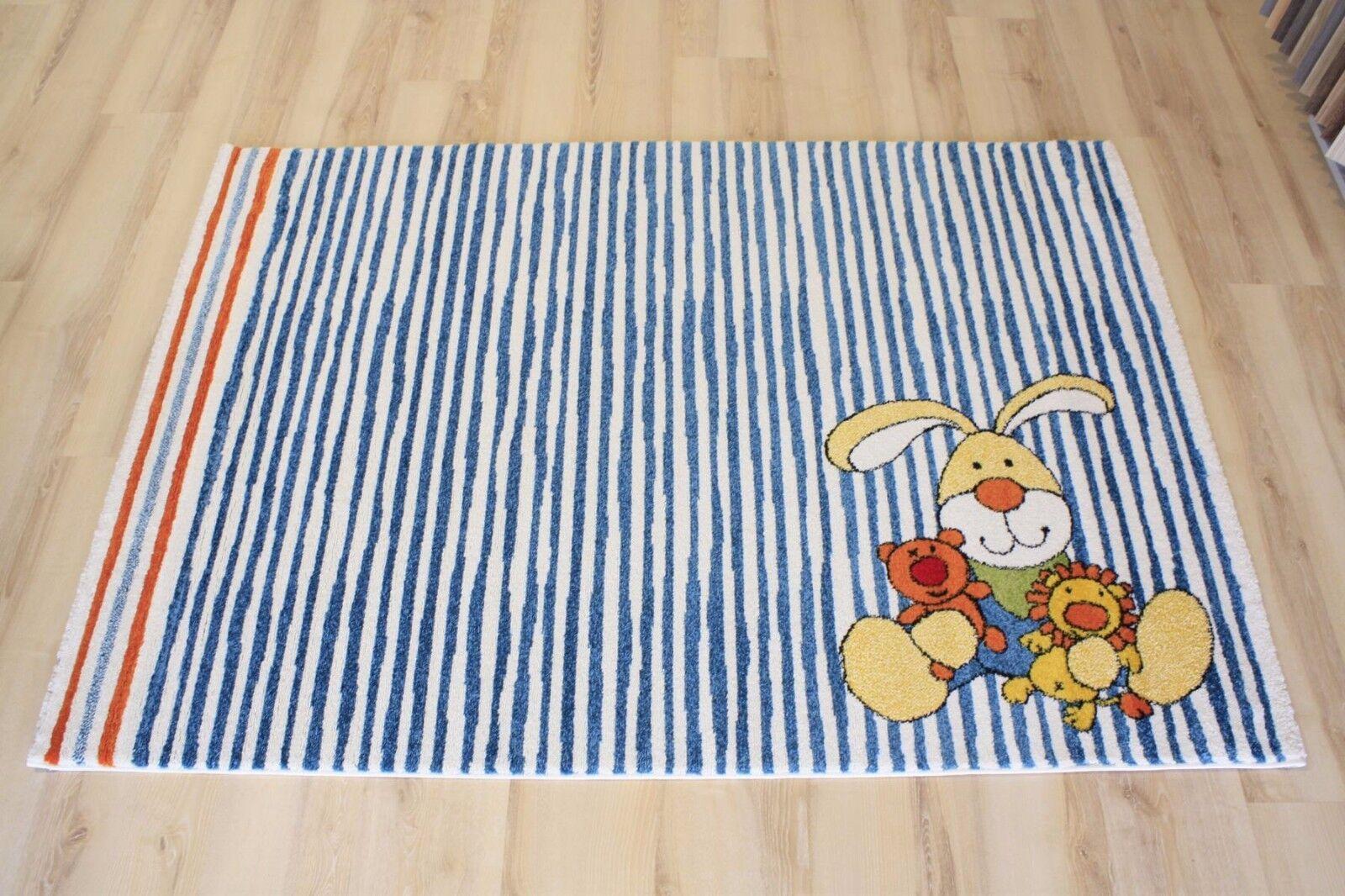 Tapis pour enfants Tapis de jeu sigikid sk-0527-01 Semmel Bunny 120x170 cm bleu