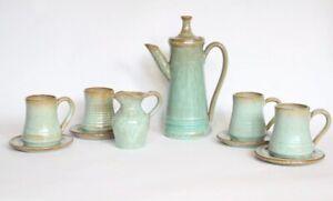 Rare-Signed-Knights-Tintagel-Studio-Pottery-Mid-Century-Jade-Coffee-Set