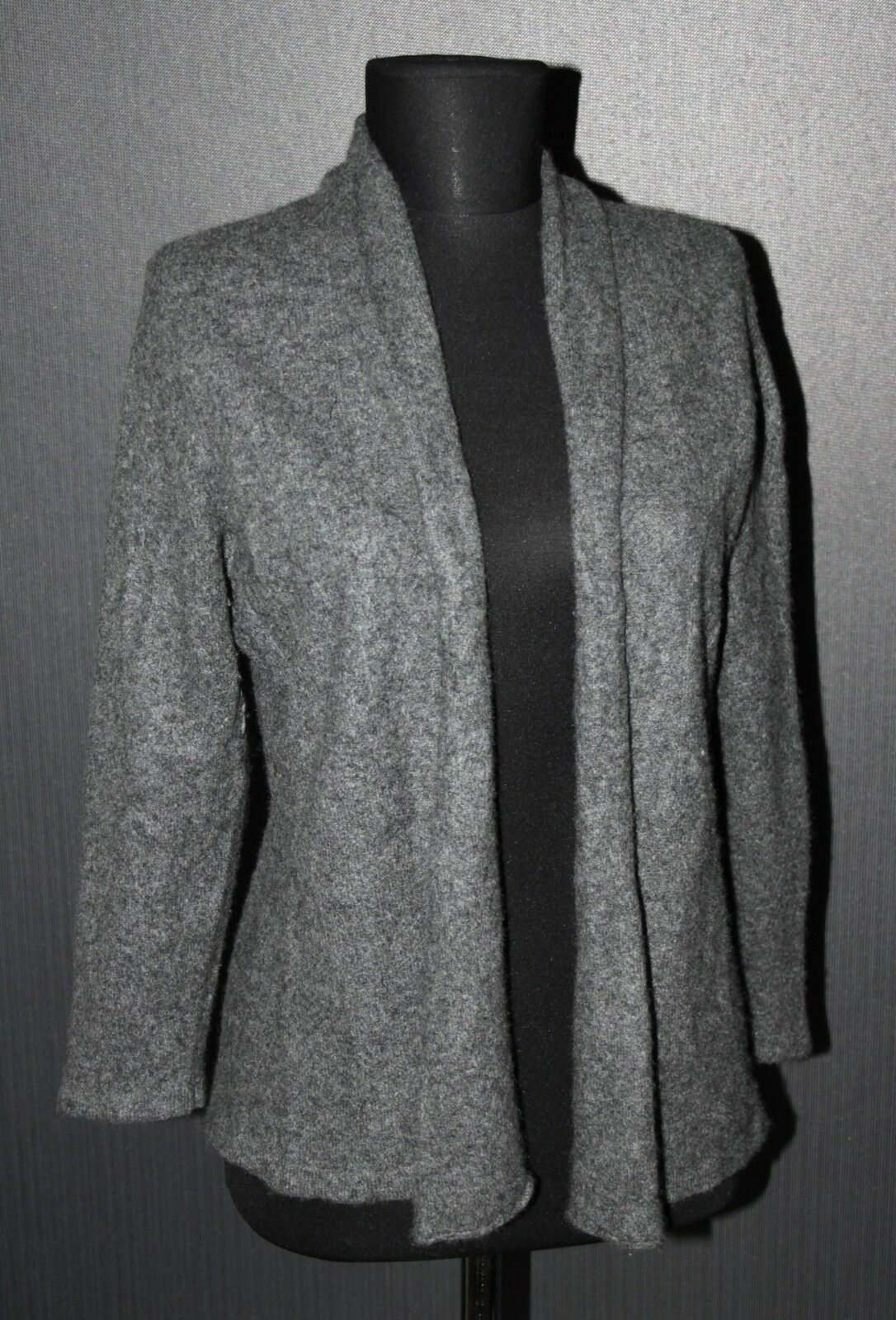 Essentials 100% cashmere women's grey cardigan jumper Size 48