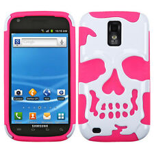 Samsung Galaxy S 2 II T989 SKULL Hybrid Dual Layer Phone Case Cover Accessory
