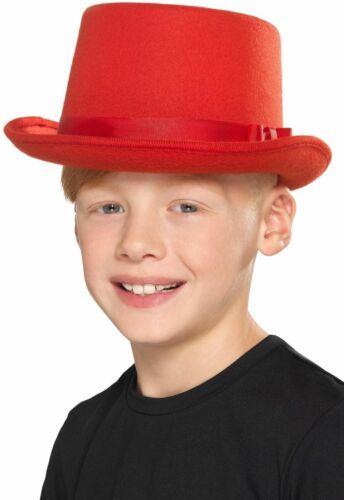 NEW Kids Blue or Red Top Hat-Elegant Halloween Costumes Fancy Dress Accessories