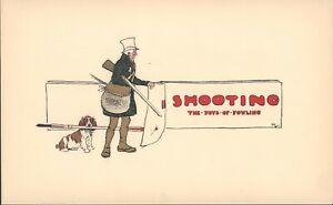 Cecil-Aldin-Original-English-Springer-Lithograph-Print-1902-Fox-Hunting-Print