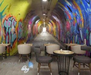 office graffiti wall. Image Is Loading 3D-Graffiti-Tunnel-Buniess-Office-Wall-Murals-Wallpaper- Office Graffiti Wall