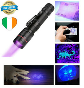 UV Money Checker LED Torch Handheld Counterfeit Detector Violet Light Cash Mini