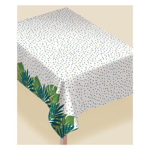 cubre mesa de papel con Forro De Franela Hawaiian Key West Green /& Gold Palm Leaf