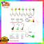 100pcs//Set Lure Lead Head Jig Hooks Fishing Jigging Tackle Fishhook Weight 1g 2g
