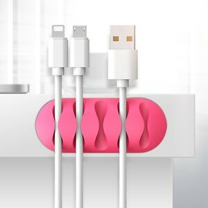 Charger-Cable-Desktop-Clip-Organizer-Silicone-Wire-Holder-For-iPhone-Samsung