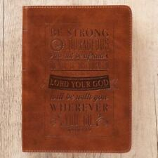 Journal Lux-Leather Be Strong & Courageous Josh 1 : 9 (2016, Hardcover)