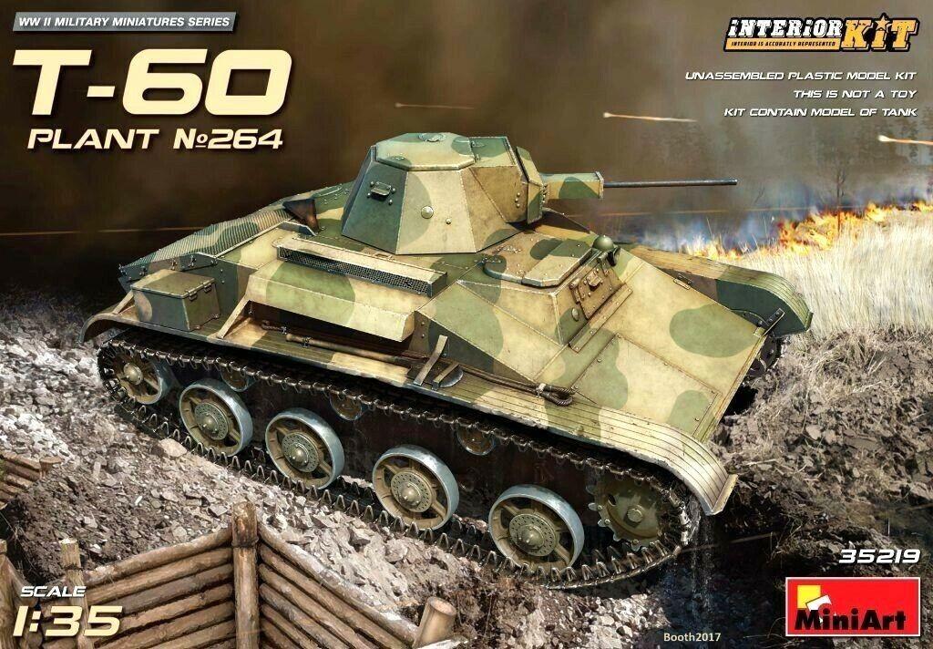 Minikonst 1 35 T -60 Plant nr.264 Sovjet Tank Med Inhemsk modellllerler Kit