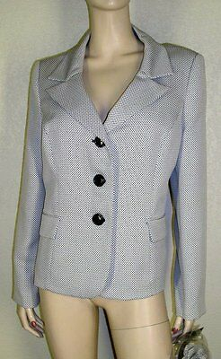 Le Suit NWt Size 16 Multi Colored Tweed Jacket Blazer with Floral Brooch 7126